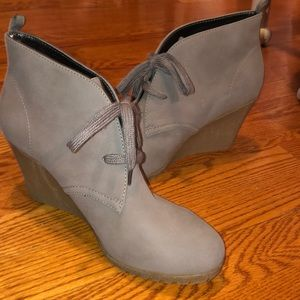 Brand New wedge ankle booties